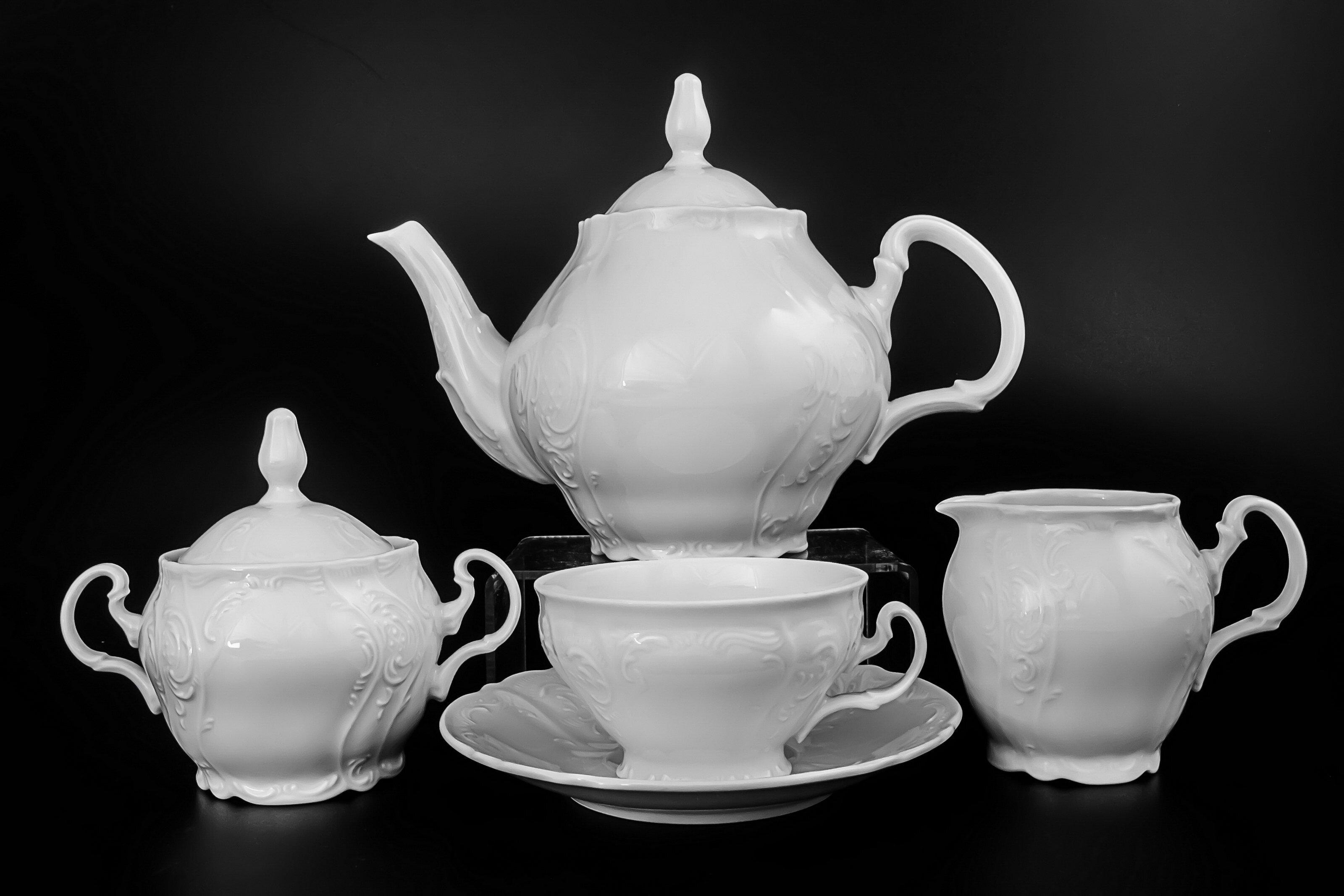 Чайный сервиз БЕРНАДОТТ НЕДЕКОРИРОВАННЫЙ от Bernadotte на 6 персон