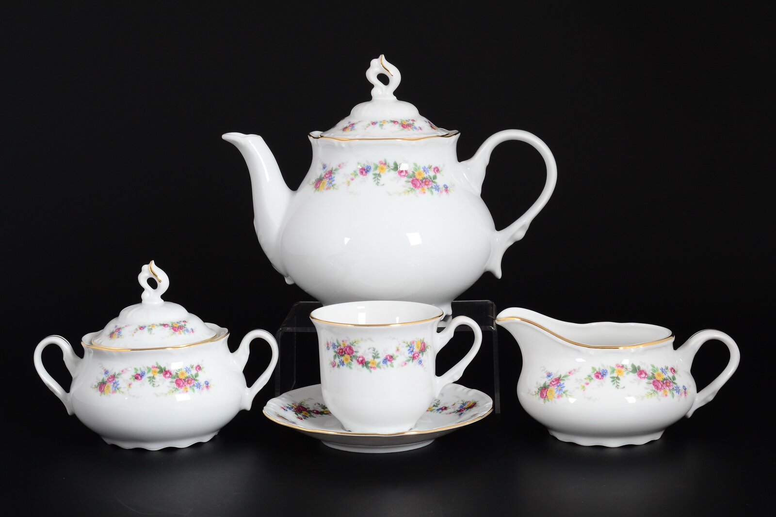 Чайный сервиз КОНСТАНЦИЯ ЦВЕТОЧНЫЙ САРАФАН от Thun 1794 a.s.