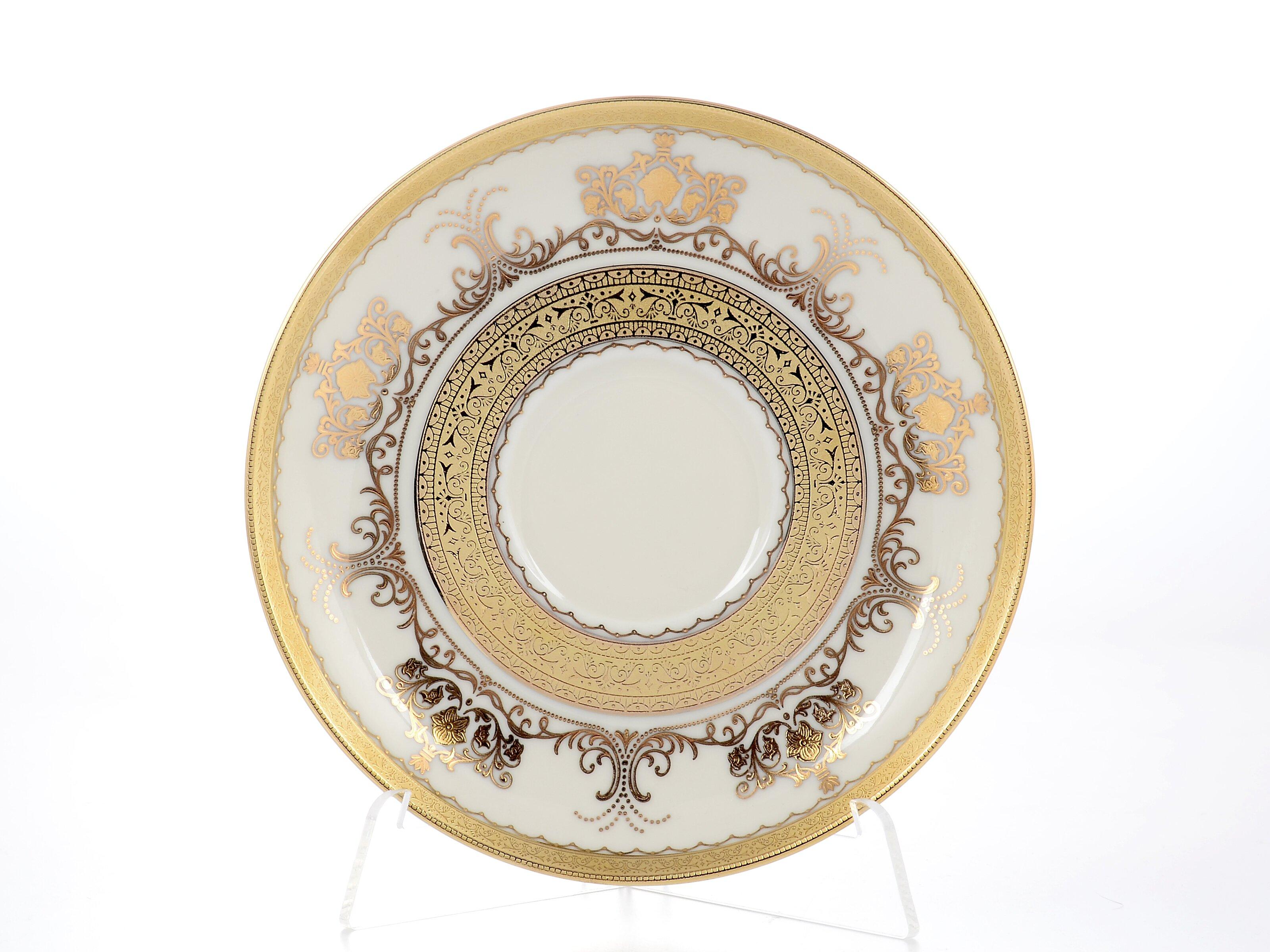 Блюдца CREME SAPHIR GOLD от Falkenporzellan