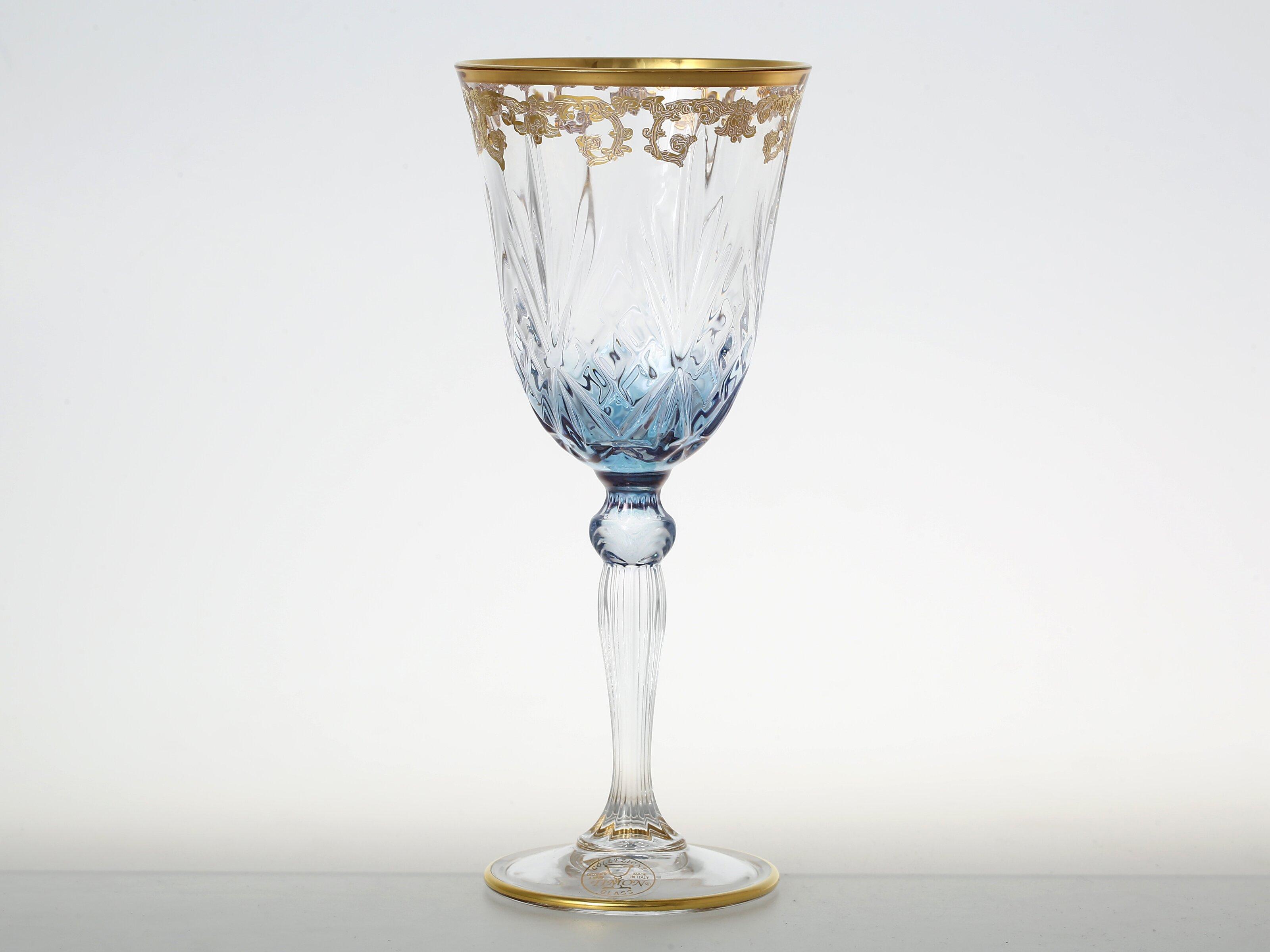 Бокалы для вина из богемского стекла