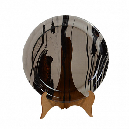 Тарелка из обсидиана 16 см от Zlatoust