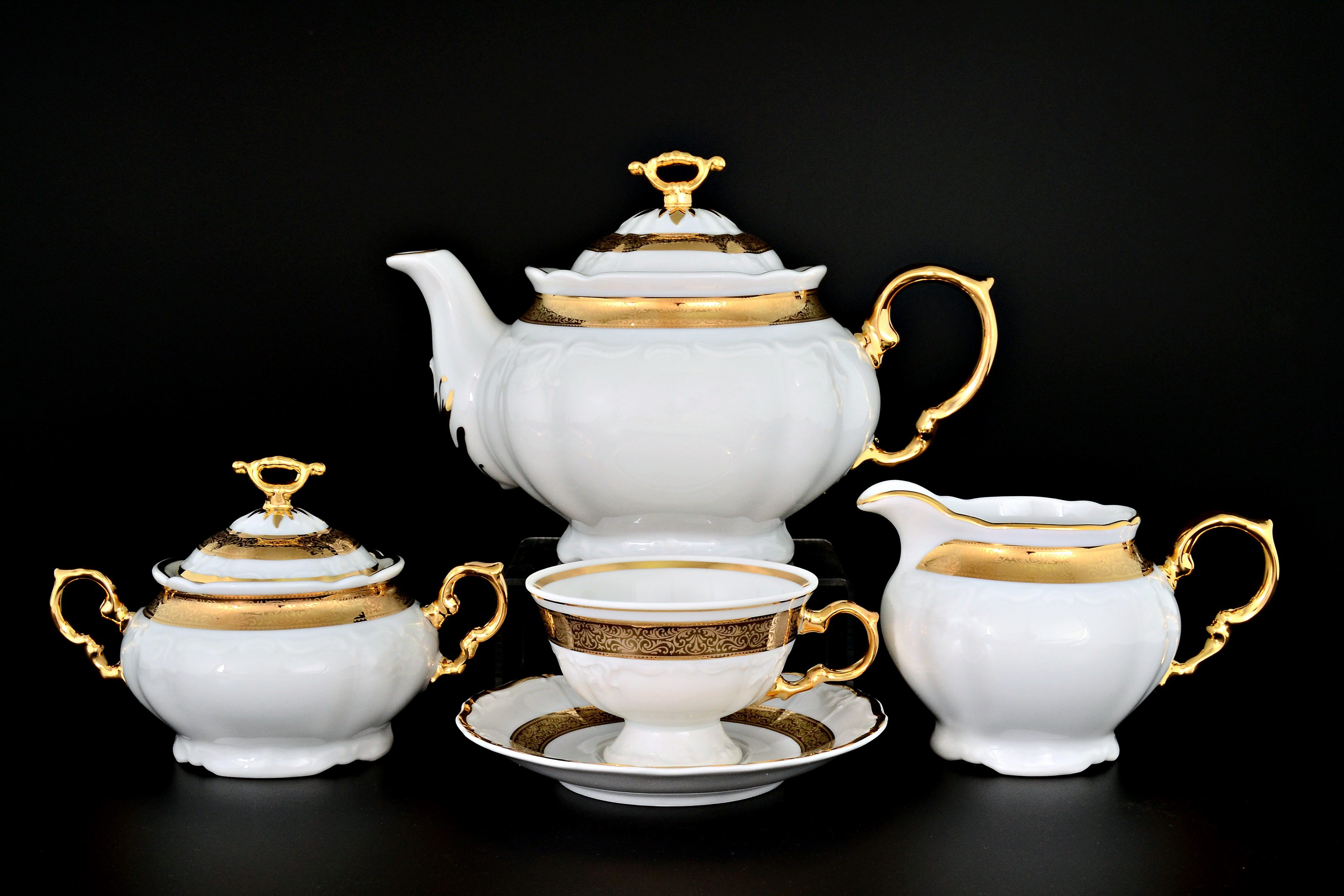 Чайный сервиз МАРИЯ-ЛУИЗА ЗОЛОТАЯ ЛЕНТА от Thun 1794 a.s. на 6 персон