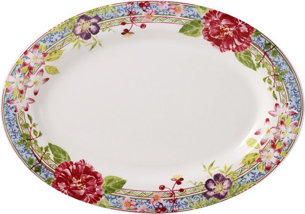 Блюдо овальное Gien Многоцветие, 37x26 см 1643COV650 1643COV650