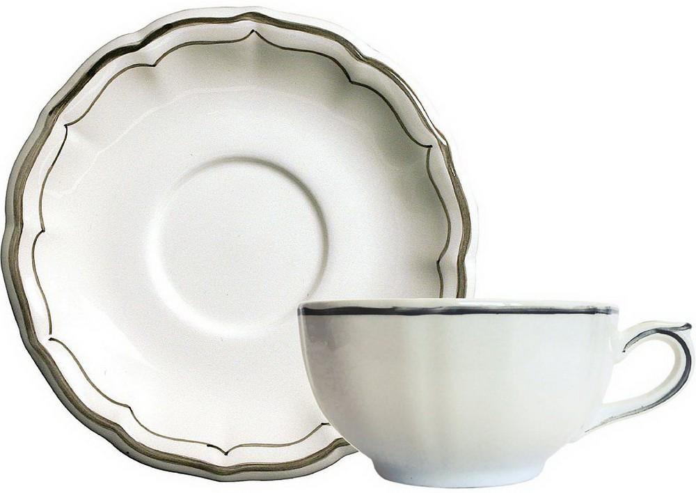 Чашка и блюдце для завтрака LES FILETS, цвет CLASSIQUEA от Gien