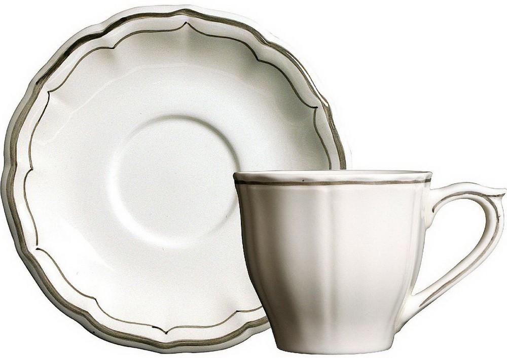 Чашка и блюдце для чая LES FILETS, цвет CLASSIQUEA от Gien
