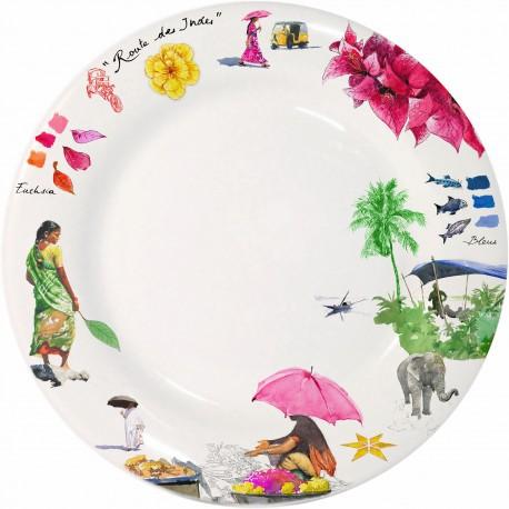 Тарелка обеденная ИНДИЯ от Gien