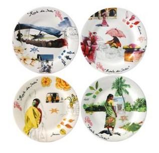Набор тарелок для канапе ИНДИЯ от Gien, 4 шт., 16.5 см