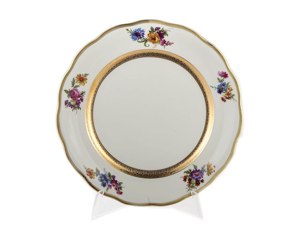 Набор фарфоровых тарелок 25 см АЛЯСКА 2714, цвет фарфора - белый, от Epiag, 6 шт.