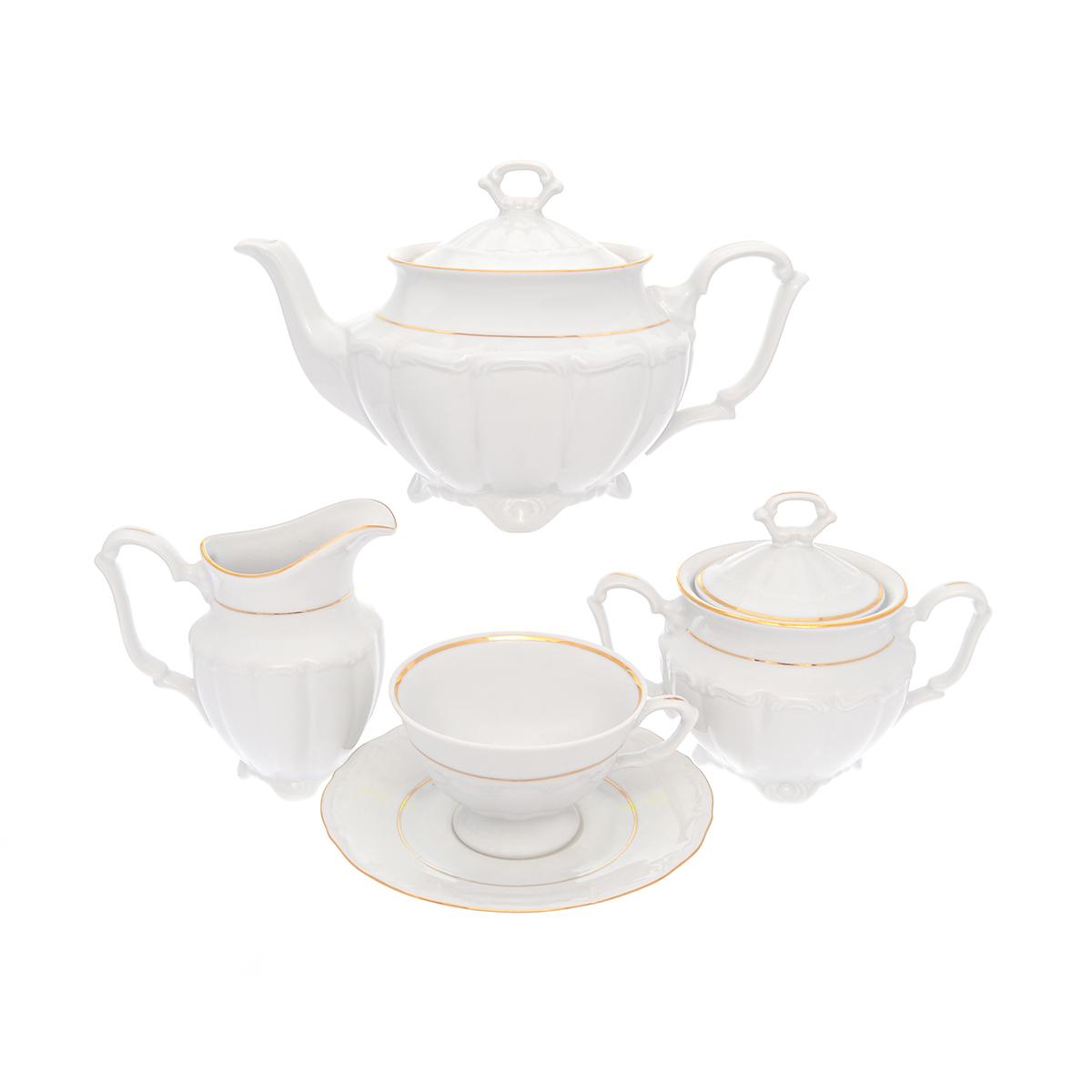 Чешский чайный сервиз КЛАССИКА (чашка классической формы) от Repast на 6 персон, 15 предметов