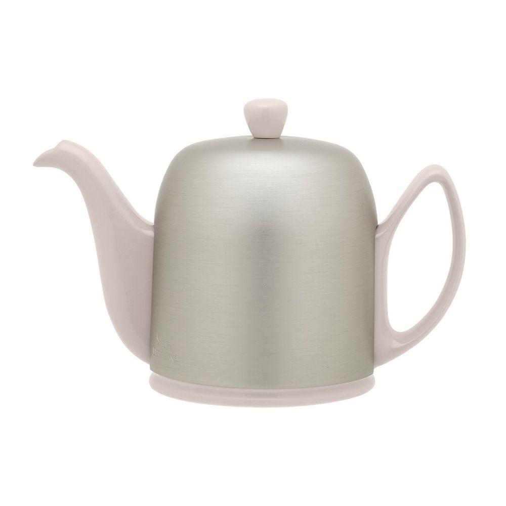 Чайник заварочный 700 мл с ситечком и крышкой розового цвета SALAM PINK на 4 чашки от Degrenne, фарфор, сталь