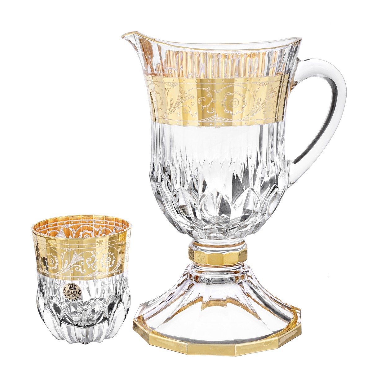 Набор для напитков КРИСТАЛАЙТ на 6 персон от Bohemia Design, стекло