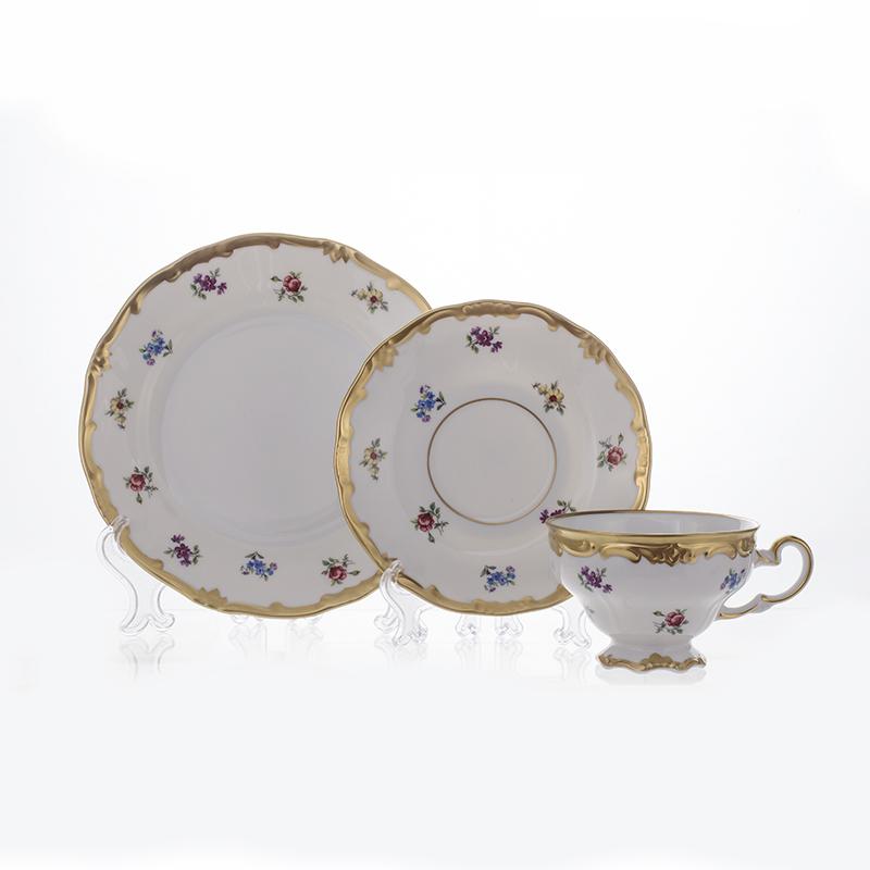 Чайный набор МЕЙСЕНСКИЙ ЦВЕТОК от Weimar Porzellan на 6 персон