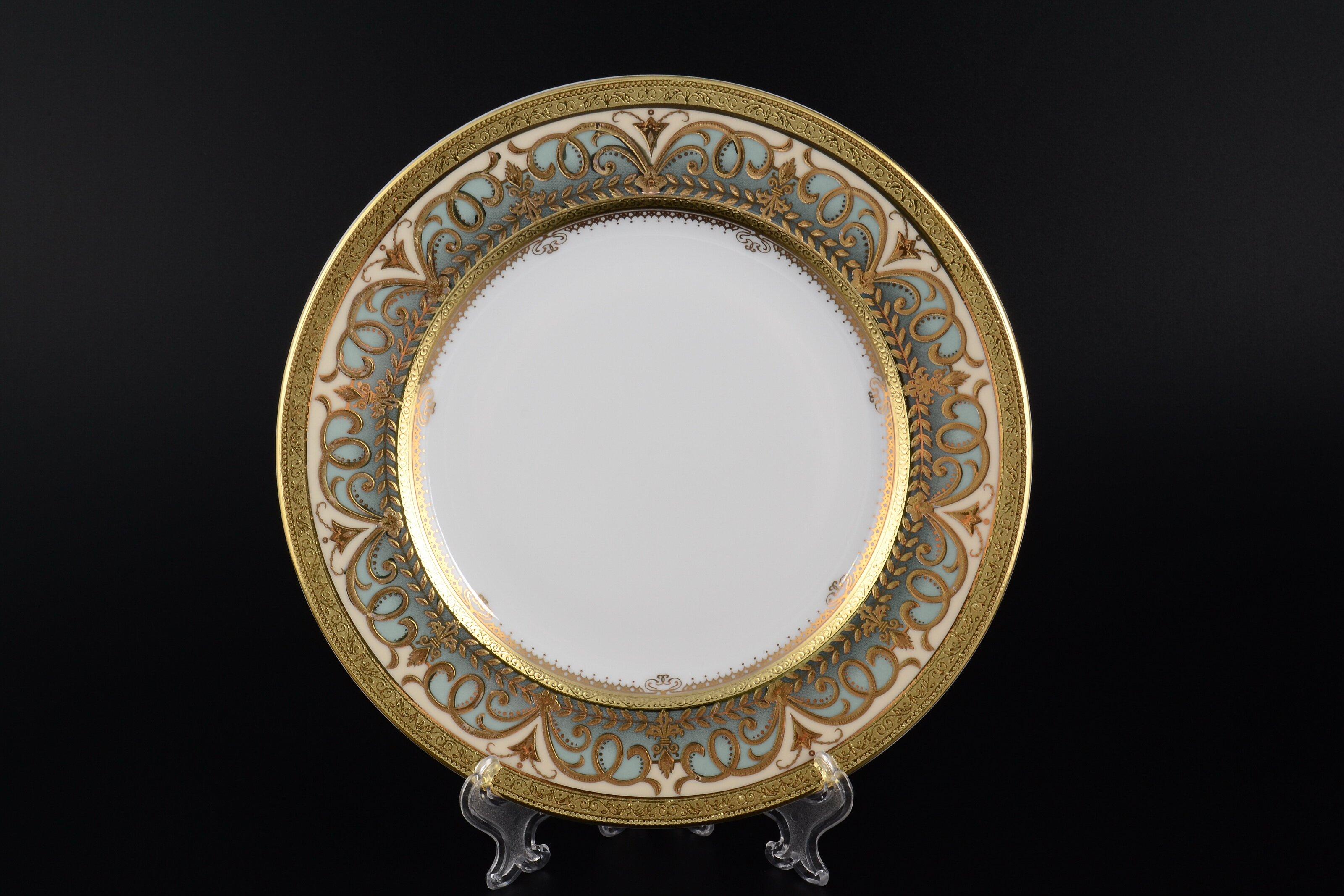 Набор тарелок 21 см ARABESQUE SELADON GOLD от Falkenporzellan, 6 шт.