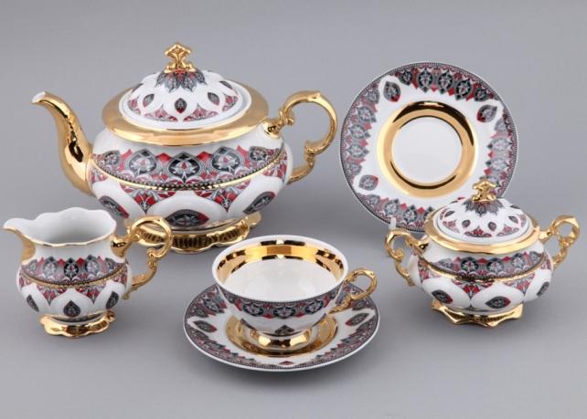 Чайный сервиз НАЦИОНАЛЬНЫЕ ТРАДИЦИИ 2125, серия Саудовская Аравия (красный) от Rudolf Kampf