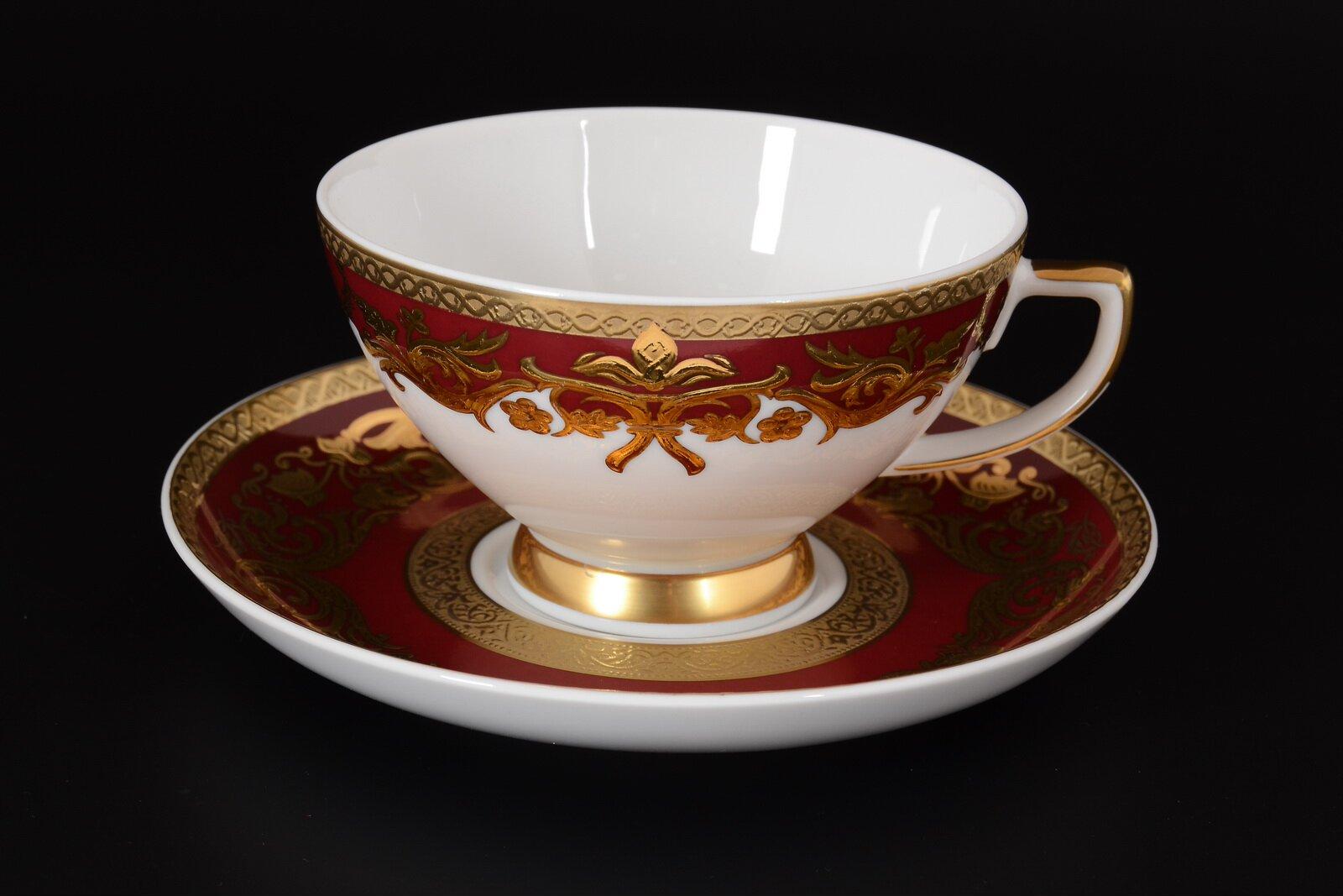 Набор чайных пар NATALIA BORDEAUX GOLD