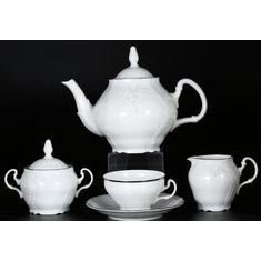 Чайный сервиз ПЛАТИНОВЫЙ УЗОР