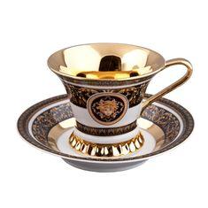 Чашка высокая 200 мл с блюдцем ВИЗАНТИЯ (Byzantine) 2032