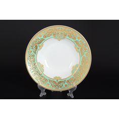 Набор глубоких тарелок 23 см NATALIA GREEN GOLD