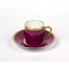 Чашка кофейная с блюдцем РАДУГА от Haviland & C.Parlon, цвет фуксии