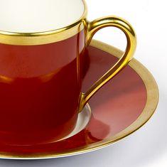 Чашка кофейная с блюдцем от Haviland & C. Parlon, терракотовый цвет