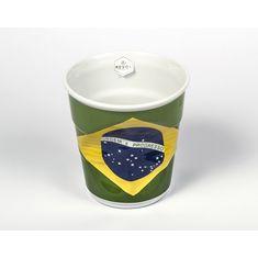 Мятый фуршетный стакан, флаг Бразилии, 1 л от Revol