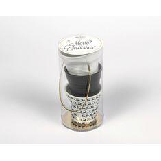 Набор из 3 мятых стаканов, 80 мл, белый, черный сатин, олени от Revol
