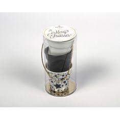 Набор из 3 мятых стаканов, 80 мл, белый, черный сатин, звезды от Revol