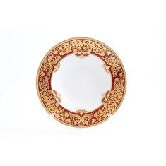 Набор глубоких тарелок 23 см NATALIA BORDEAUX GOLD