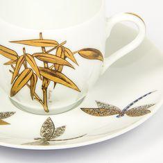 Чашка для кофе с блюдцем СТРЕКОЗЫ от Fradkof