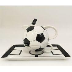 Подарочный чайный набор ФУТБОЛ, цвет - черно-белый, от Rudolf Kampf