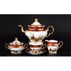 Чайный сервиз ОХОТА КРАСНАЯ от Queens Crown