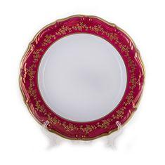 Набор тарелок 25 см БАРОККО КРАСНЫЙ от Bavarian Porcelain