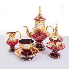 Сервиз чайный ЛЕПКА КРАСНАЯ от Union Glass