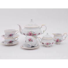 Чайный сервиз СОНАТА РОЗОВЫЕ ЦВЕТЫ от Leander на 6 персон