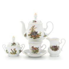 Чайный сервиз ОХОТА МЭРИ-ЭНН от Leander на 6 персон
