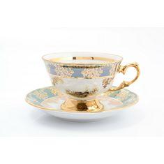 Чайные пары ОХОТА ЗЕЛЕНАЯ от Queens Crown (Prince Porcelain)