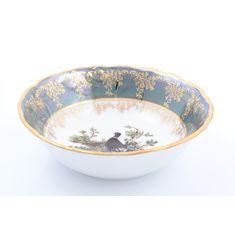 Салатники ОХОТА ЗЕЛЕНАЯ расцветка от Queens Crown (Prince Porcelain)
