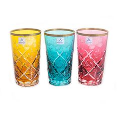 Набор стаканов РОЗА КОЛОРС от Arnstadt Kristall