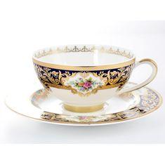Чайные пары OPAL COBALT GOLD от Falkenporzellan