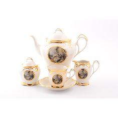 Чайный фарфоровый сервиз BOUCHER от Bruno Costenaro на 6 персон, 15 предметов