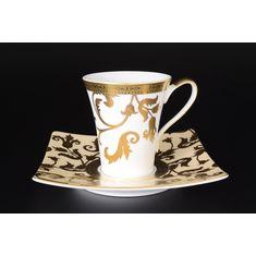 Чайные пары TOSCA CREME GOLD от Falkenporzellan