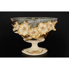 Фруктовница 32 см Цивик (Cevik), стекло, керамика