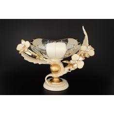 Ваза для фруктов от Цивик (Cevik), керамика, стекло, ширина 46 см