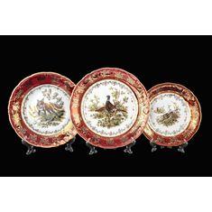 набор тарелок ФРЕДЕРИКА ОХОТА КРАСНАЯ от Carlsbad (Чехия)