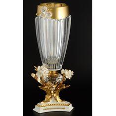 Ваза для цветов 48 см Цивик (Cevik), стекло, керамика