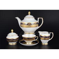 Чайный сервиз CONSTANZA COBALT GOLD 9320 от Falkenporzellan на 6 персон, 17 предметов