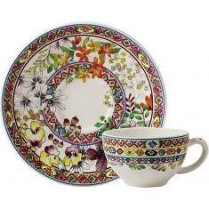 Чашка и блюдце для чая БАГАТЕЛЬ от Gien