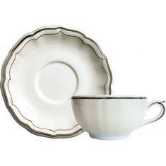 Чашка и блюдце для завтрака LES FILETS, цвет TAUPE (бежевый), от Gien, 300 мл