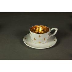 Чайная пара среднего размера с лилиями от Evgeniya Kryukova