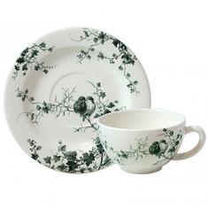 Чашка и блюдце для завтрака ПТИЦЫ от Gien